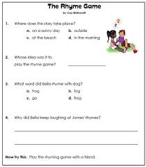 paragraph stories for reading comprehension 1st grade reading comprehension worksheets