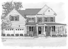 home pencil sketch house portraits online