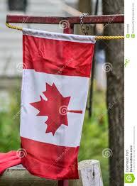 Outside Flag Canadian Flag Outside A Home Stock Photo Image 32324882
