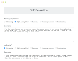 self evaluation form 5 free templates in pdf word excel download