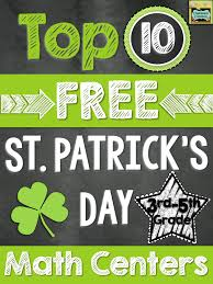 ten 10 free math centers for st patrick u0027s day 3rd 5th