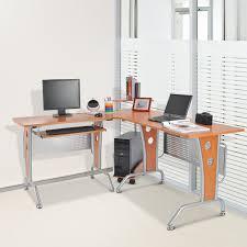 Schreibtisch Computer Homcom Eck Computertisch Eckschreibtisch Braun Aosom De