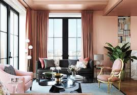 Best Coral Paint Color For Bedroom - soft pink coral paint color for living room with gray sofa and