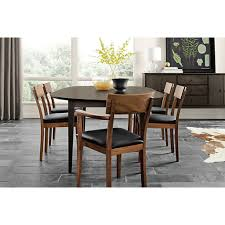 Crate And Barrel Dining Room Extension Tables Dining Room Furniture Avalon 45 Black Round