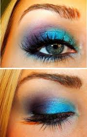 bright blue and purple black and gold eye makeup ideas gde smokey black and
