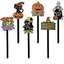 gift boutique halloween yard stakes set of 6 spooky yard signs
