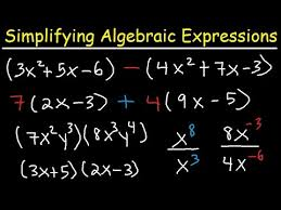simplifying algebraic expressions with parentheses u0026 variables