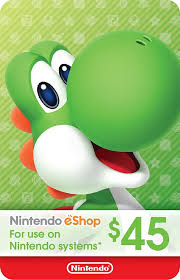 eshop gift cards ecash nintendo eshop gift card 45 switch wii u 3ds