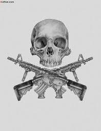beautiful army infantry skull stencil design golfian com