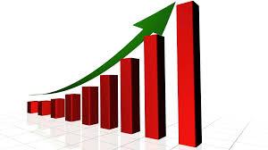growing chart 4k growing business chart with climbing arrow uhd motion