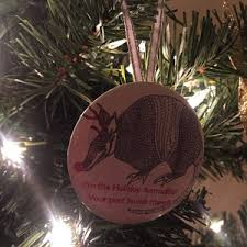 holiday armadillo ornament