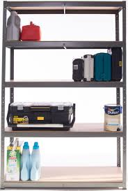 Adjustable Metal Shelves 5 Tier Extra Heavy Duty Wide Boltless Shelving Unit
