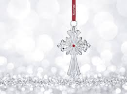 waterford 2017 silver annual cross ornament