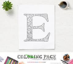 armenian alphabet coloring pages sale floral alphabet coloring page printable letter e instant