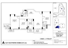 dlf new town heights floor plan overview westend heights dlf limited bangalore residential
