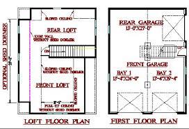 garage with loft floor plans smith studios