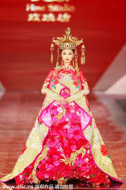 Chinese Wedding Dress Traditional Chinese Wedding Dresses Presented In Shanghai 3