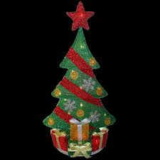 national tree company 29 in pre lit tinsel tree mzft 29lo 1 the