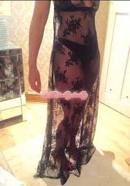 sheer nightgown see through nightie black lace baby doll dress