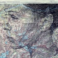 Vintage Maps Elaborate New Portraits Drawn On Vintage Maps By Ed Fairburn