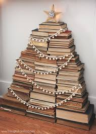 book stacking ideas vintage book stack christmas tree jennifer rizzo