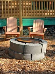 landscape block adhesive articles with fire pit made from concrete blocks tag fire pit