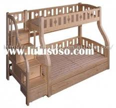 Wooden Bunk Beds Plans by Bunk Bed Twin Over Full With Stairs Foter