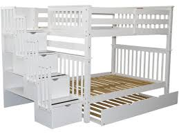 Bunk Beds Full Over Full Stairway White Trundle - Full over full bunk bed with trundle