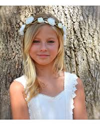 flower girl hair shopping s deal on gold ivory flower crown ivory