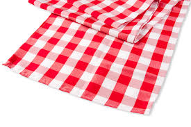 Checkered Polyester Table Runner Red White Cv Linens