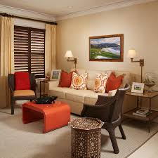 Brown And Teal Home Decor Elegant Living Room With Orange Accents 28 With Additional Home