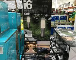 Costco Outdoor Solar Lights by Artika I6 Solar Bollard Light 2 Pack Costco Weekender