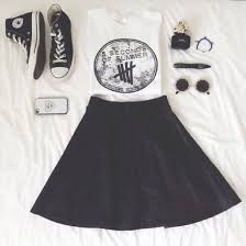 shoes high top converse converse black skirt 5 seconds of