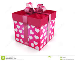 valentine day concept gift box royalty free stock photography