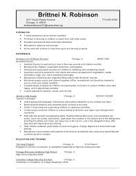Resume Examples For Daycare Worker by Child Care Resume Sample No Experience Resume For Daycare Worker