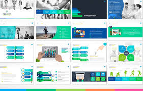modern powerpoint templates mod project presentation template free green hat world
