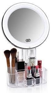 Makeup Lighted Mirror Amazon Com Sanheshun 7x Magnifying Lighted Makeup Mirror With