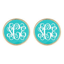 Monogrammed Earrings Best 25 Monogram Earrings Ideas On Pinterest Monogram Jewelry