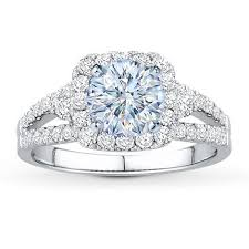 Jared Cushion Cut Engagement Rings Diamond Ring Setting 3 4 Ct Tw Round Cut 14k White Gold Jared