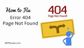 erro 404 no encontrado geapcombr how to fix error 404 page not found in wordpress wpmyweb