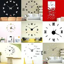 articles with wall decal clock mechanism tag decal wall clock