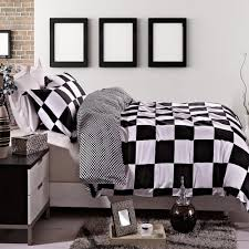 Checkered Area Rug Black And White by Total Fab Black And White Checkered Comforters U0026 Bedding Sets