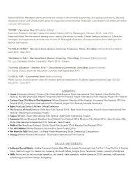 Narrative Resume Resume U2013 Danielle Hope Diamond