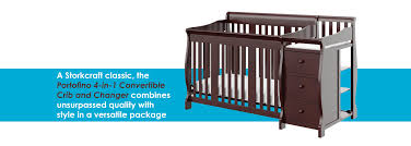 Convertible Cribs With Storage by Amazon Com Stork Craft Portofino 4 In 1 Fixed Side Convertible