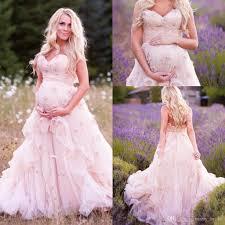 discount romantic blush country pregnant wedding dresses