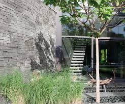 engineered stone wall cladding indoor garden textured in