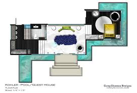 pool house guest house plans