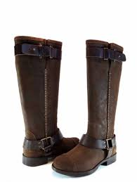 s ugg australia brown leather boots ugg australia w dree chestnut brown leather harness
