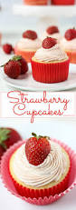 strawberry cupcakes fork in the kitchen