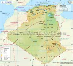 Africa Time Zone Map by Algeria Map Map Of Algeria